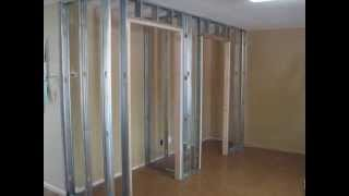 Adding A Closet For Extra Space Using Metal Framing And Drywall