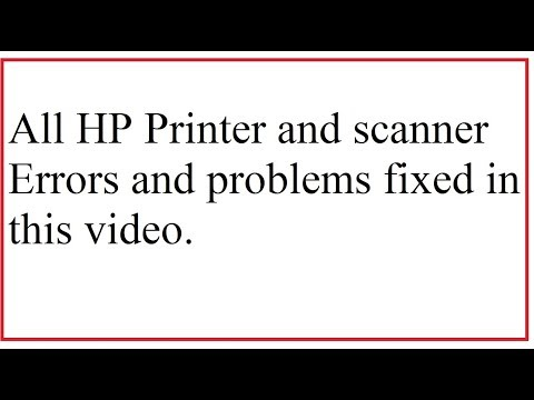 How To Fix Printing And Scanning Problems In HP Printers | Fix Printing Issues | Fix Scanning Errors