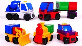 Magnet Vehicles for Kids Cement Mixer Truck and Wheel Loader