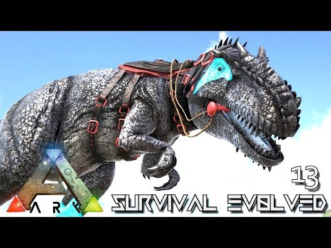 ARK: SURVIVAL EVOLVED - NEW GLACIAL GIGANOTOSAURUS POWER HOU