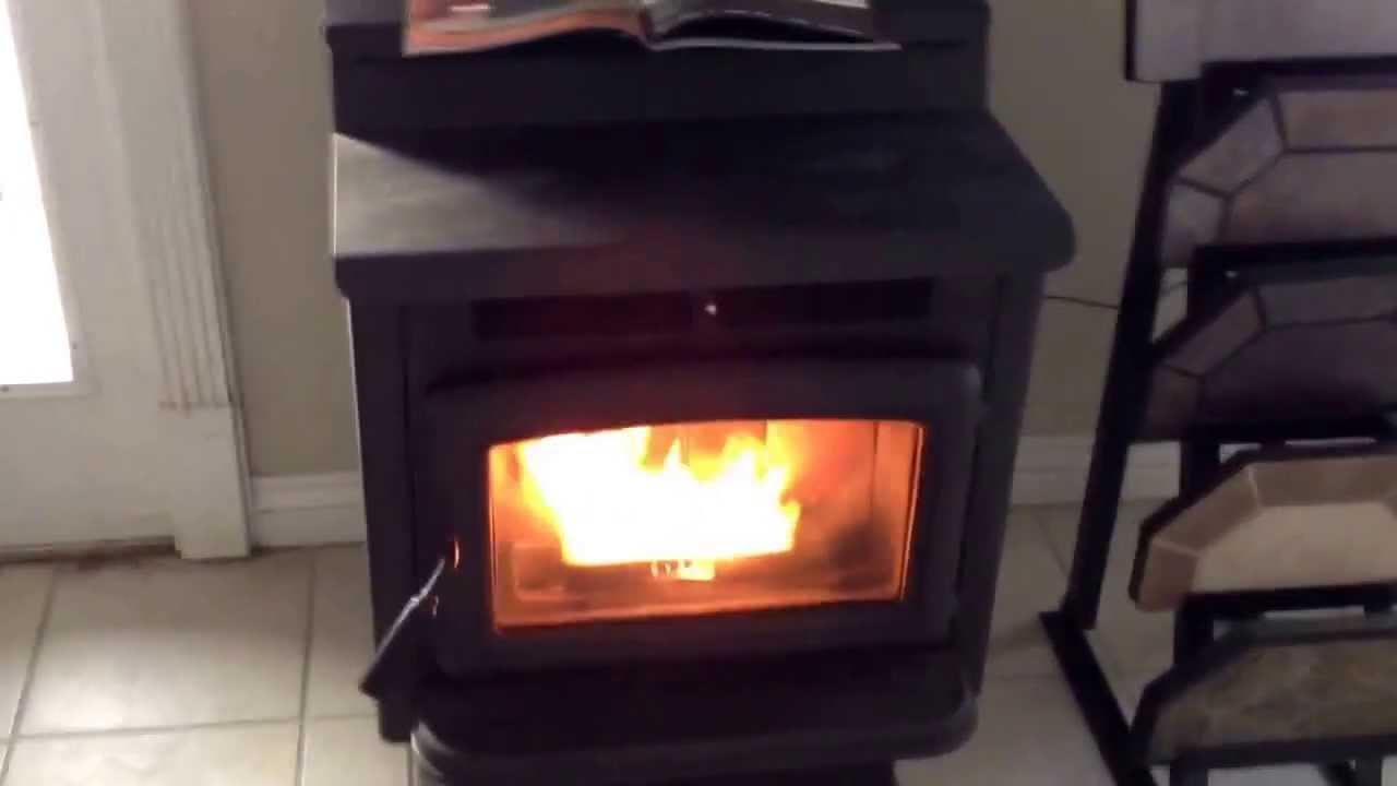 pacific energy ps45 pellet stove burning youtube
