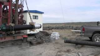 Installing Casing In Dietrich Idaho New Well 7-24-2013