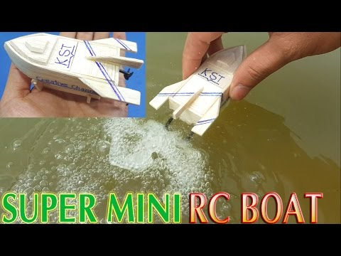 How To Make Super Mini RC Boat Twin Motor