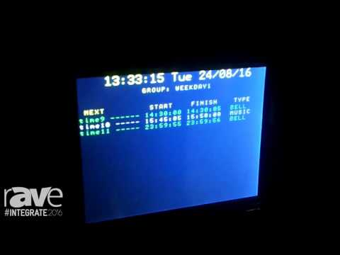 Integrate 2016: Altronics Shows the Redback A 4510 Yearly School Timer System