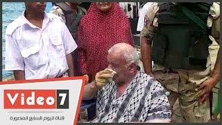 """بالفيديو..عقب خروج القاضى له..مسن قعيد يدلى بصوته باكيا:""""كنت بكسر الحيطان..تحيا مصر"""""""