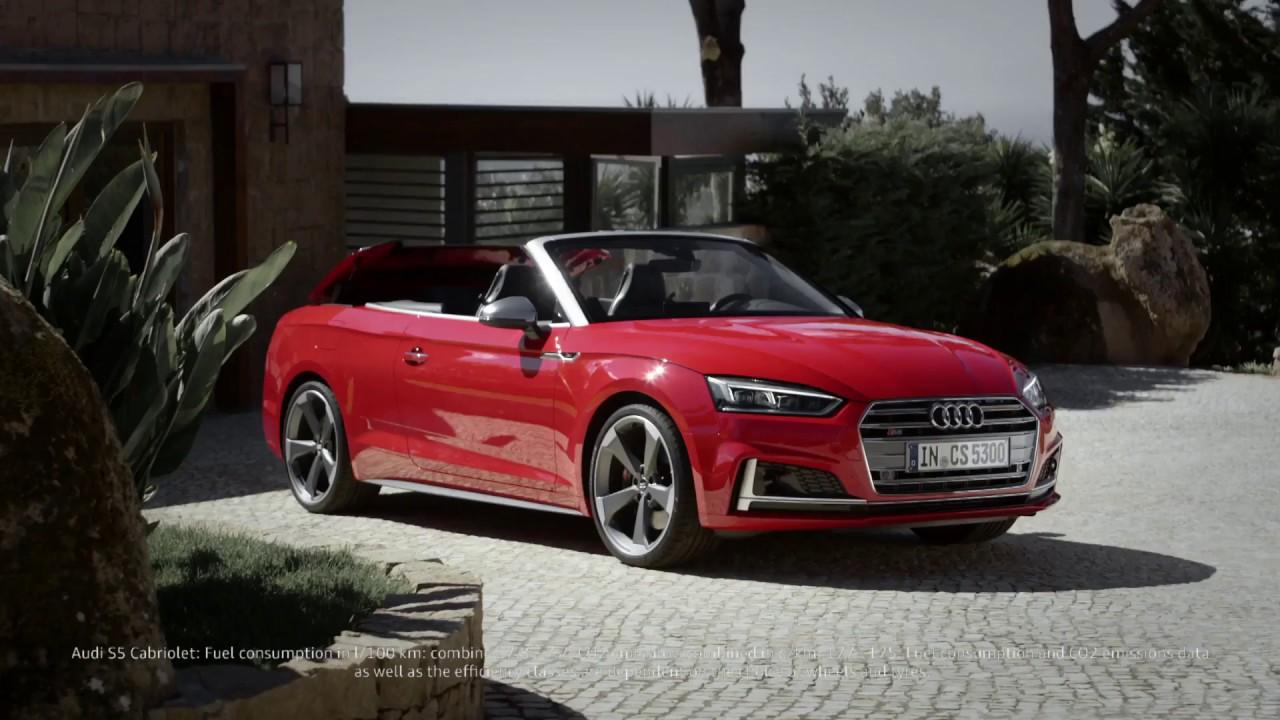 l 39 audi a5 cabriolet 2017 en action youtube. Black Bedroom Furniture Sets. Home Design Ideas