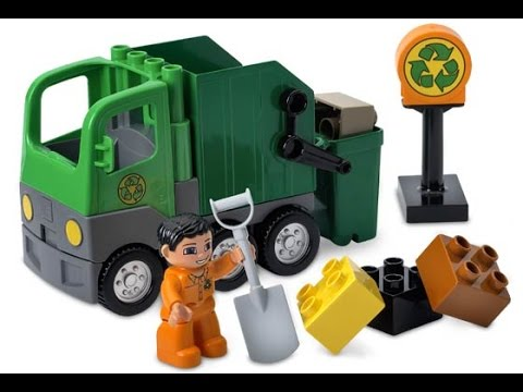 lego duplo le camion poubelle jouets pour les enfants youtube. Black Bedroom Furniture Sets. Home Design Ideas