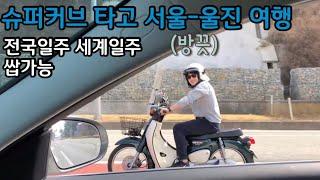 슈퍼커브로 서울-경북 울진 전국일주 다녀오기