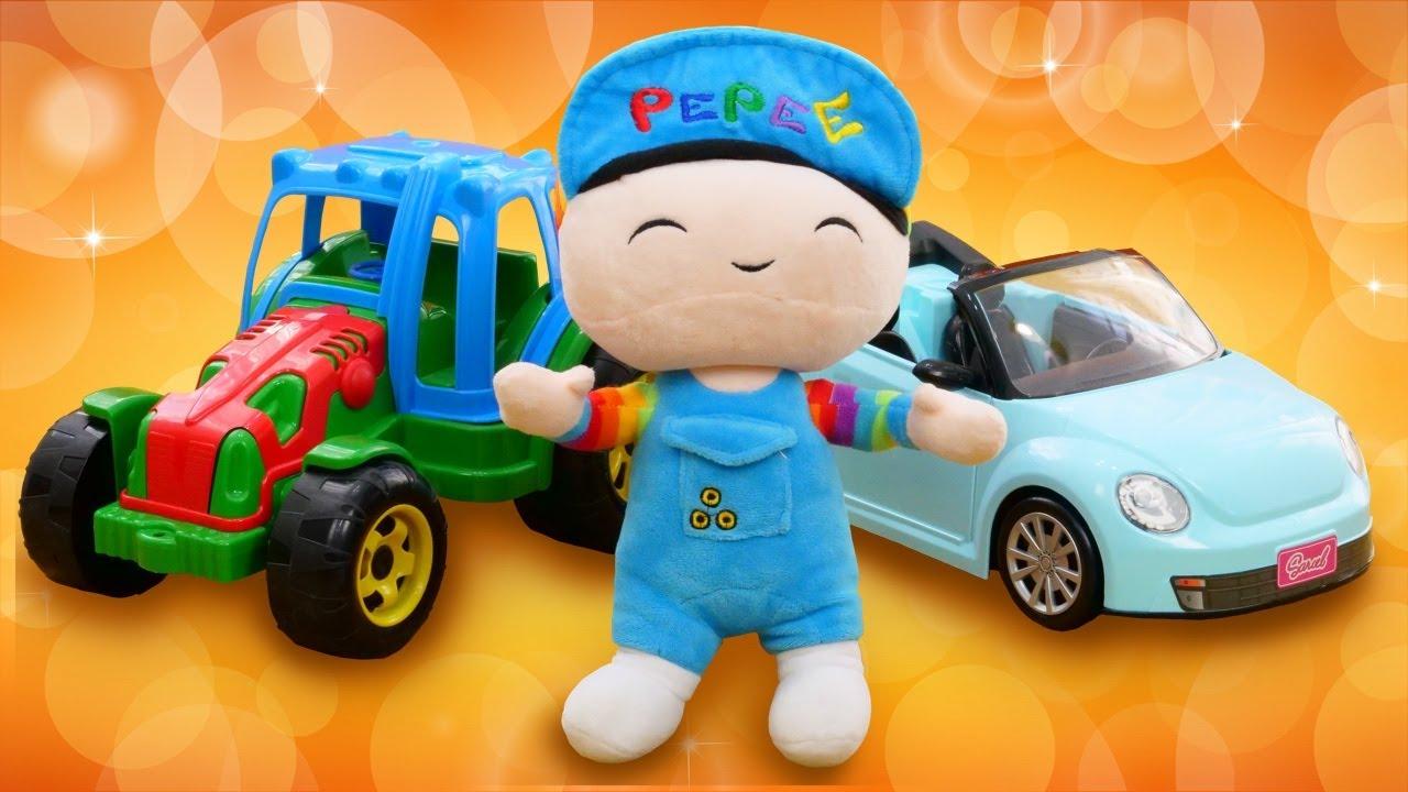 Pepee ile oyuncak araba oyun derlemesi. Eğitici erkek çocuğu videoları