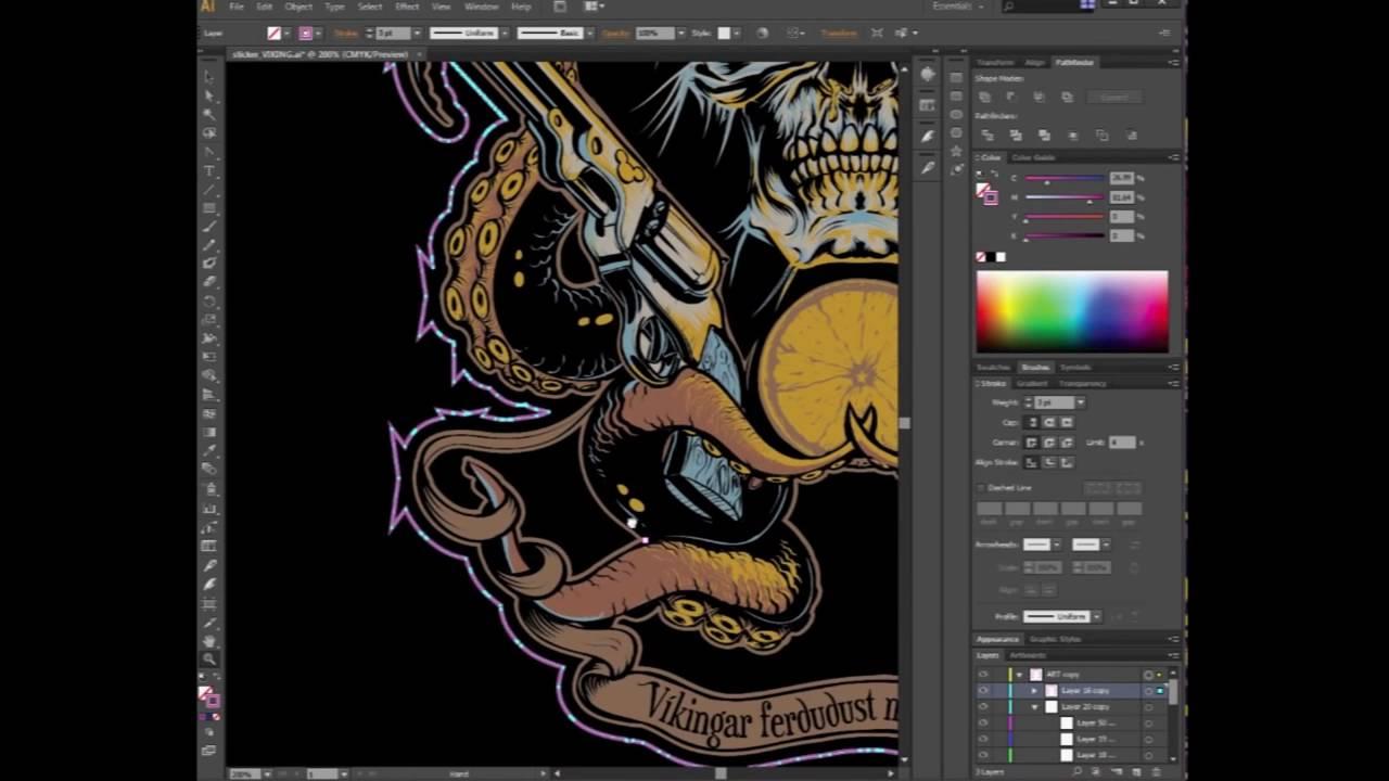 How To Make A Custom Vector Die Cut Sticker With Adobe - How to make custom die cut stickers