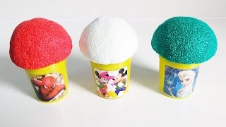 play doh ice cream surprise eggs minions spiderman mickey mouse frozen elsa