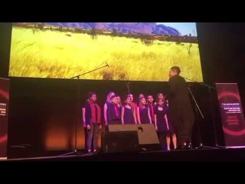 Dhungala Children's Choir, conducted by Deborah Cheetham AO, at #LowitjaConf2016