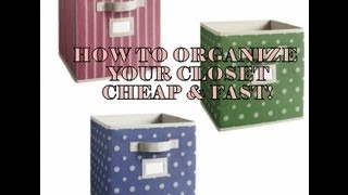 Prettyprchick.com| How To Organize Your Closet Fast And Cheap