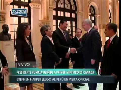 Presidente Ollanta Humala Tasso despide a Primer Ministro de Canadá Stephen Harper