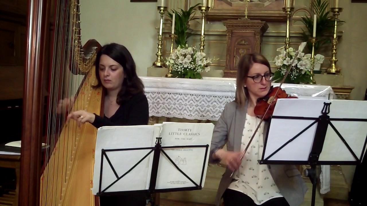 Pachelbels Canon D Duo Harp Violin Weddings In Italy
