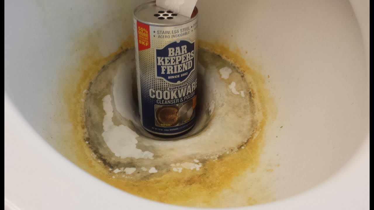 How To Clean A Toilet Remove Hard Water Stains And Rust, Bar ...