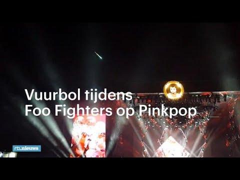 Vuurbol tijdens Foo Fighters op Pinkpop - RTL NIEUWS