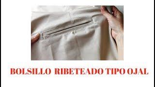 En este tutorial aprenderás a confeccionar paso a paso un bolsillo ribeteado tipo ojal, descarga los patrones del bolsillo y hazlo tú mismo ...