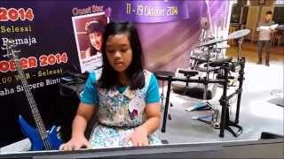 let it go, frozen, yasmin salsabil, SD alazhar bintaro (albin), Yamaha sincere music expo