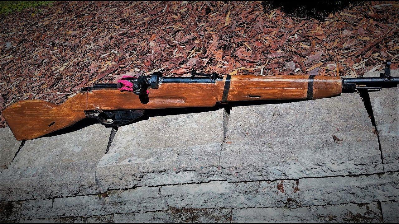 Homemade Airsoft Gun Mosin Nagant M44 Building Time Lapse