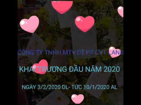Download CÔNG TY TNHH MTV ĐT PT CVTLAND KHAI TRƯƠNG ĐẦU NĂM MỚI 2020