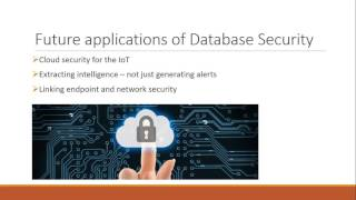 Trends in Database Security
