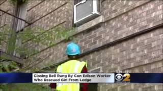 Con Edison Hero Closes NYSE By Ringing Bell