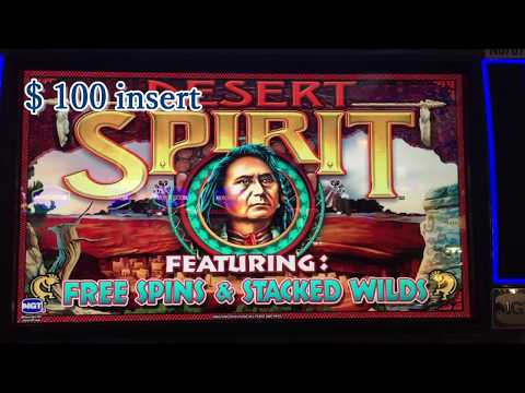 DESERT SPIRIT Slot Machine 2c Bet $4 and GYPSY FIRE Slot 5c Bet $5, San Manuel Casino, Akafujislot
