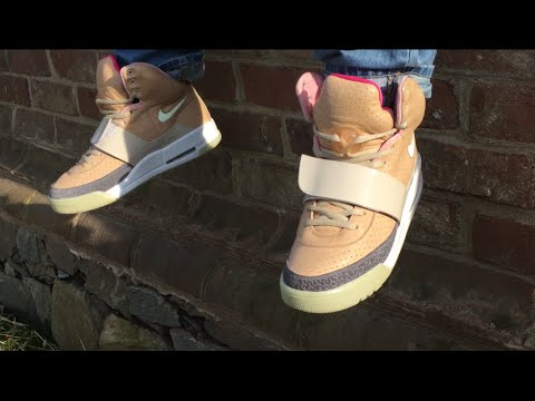 Nike Air Yeezy 1 Tan Showcase + GLOW TEST + ON FEET! - YouTube