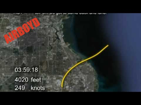 NTSB Animation of Marlin Air Cessna Citation Accident Investigation Near Milwaukee Wisconsin
