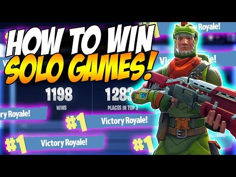 HOW TO GET MORE SOLO WINS IN FORTNITE BATTLE ROYALE!   Fortnite tips & Tricks Ep. 3