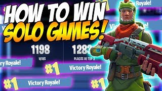 HOW TO GET MORE SOLO WINS IN FORTNITE BATTLE ROYALE! | Fortnite tips & Tricks Ep. 3