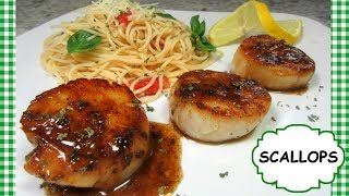 How To Cook PERFECT SCALLOPS with Lemon Garlic Butter Sauce Recipe