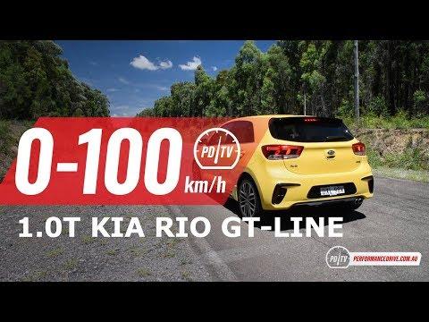 Kia Rio GT-Line (. turbo) -km/h & engine sound