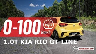 2019 Kia Rio GT-Line (1.0 turbo) 0-100km/h & engine sound