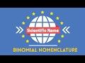 Scientific Name Binomial Nomenclature