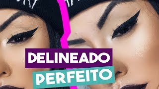 COMO FAZER DELINEADO PERFEITO!!! - Por @Nathinog