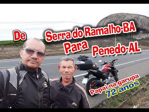 Viagem de Moto Serra do Ramalho-BA para Penedo-AL Parte 01