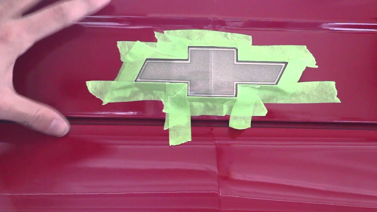 How To Paint Your Chevy Symbol Black For Under 10 Do It Yourself