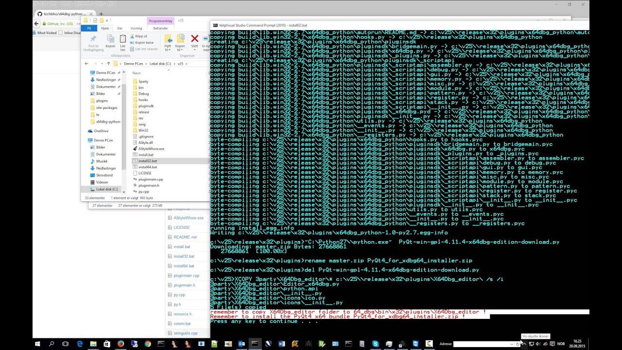 installingx64dbgpython