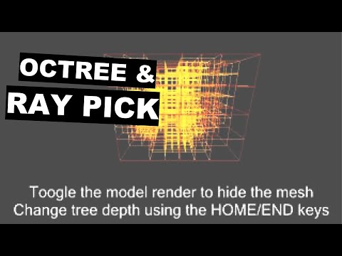 Computational Geometry - Octree and Ray Picking demo