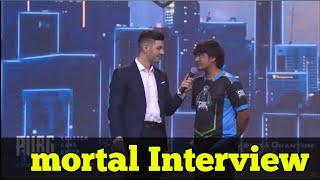 Mortal Interview in pmco pubg mobile India