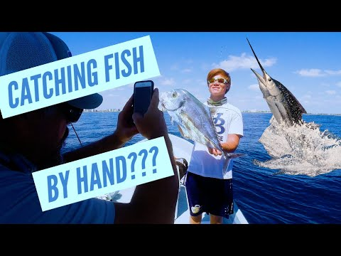 Catch A Fish BY HAND? Sailfish, African Pompano, Tripletail - Florida #Fishing - Offshore On #Panga