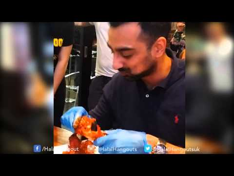 Halal Hangouts - Man vs Food: Hot wing challenge