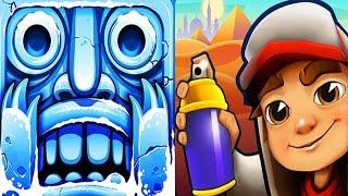 Temple Run 2 Frozen Festival VS Subway Surfers Cairo Android iPad iOS Gameplay HD