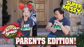 WATERMELON SMASH CHALLENGE - PARENTS EDITION!!! Messier Than Eat It Or Wear It!