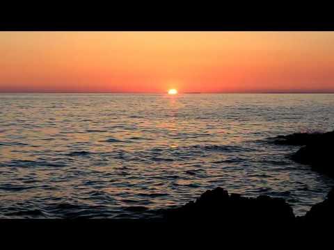 Sunset at island of Unije, Croatia