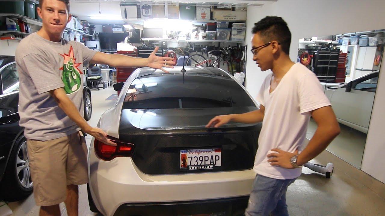 Carbon Fiber Trunk Install Subaru Brz Youtube