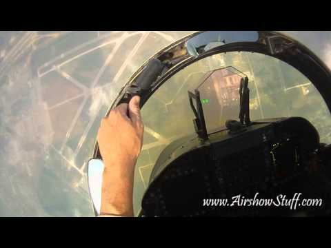 RideAlong! US Navy F/A-18C Hornet East Demo Team (Helmet Cam