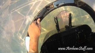 RideAlong! US Navy F/A-18C Hornet East Demo Team (Helmet Cam) - Thunder Over Michigan 2010